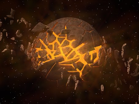 Planet, Explosion, Espace